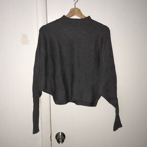 NWT cropped round neck sweater